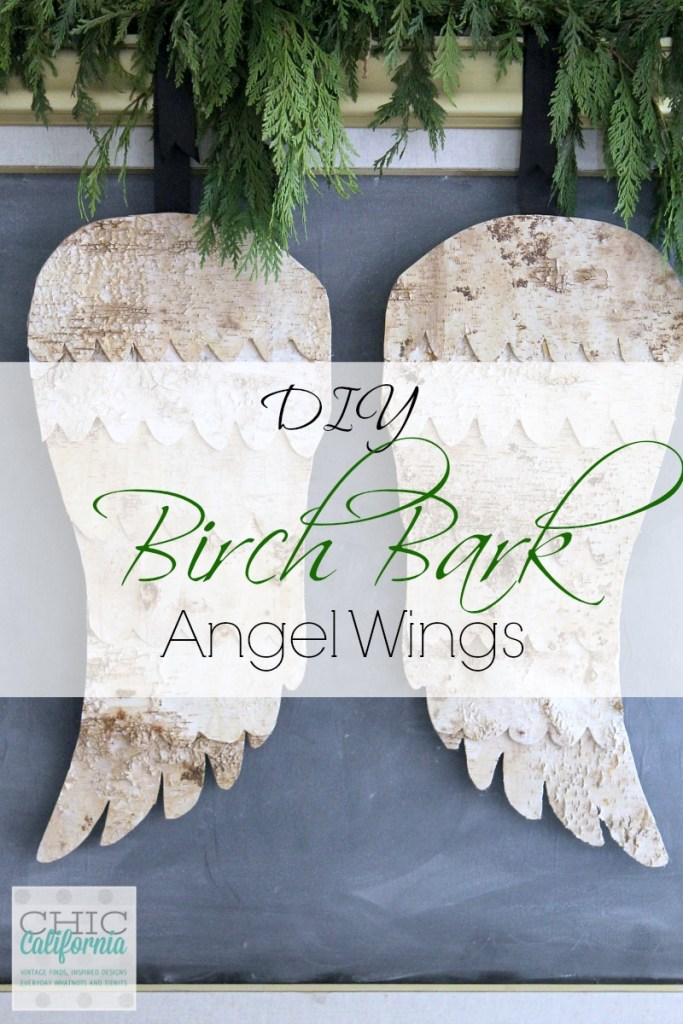 DIY Birch Bark Angel Wings