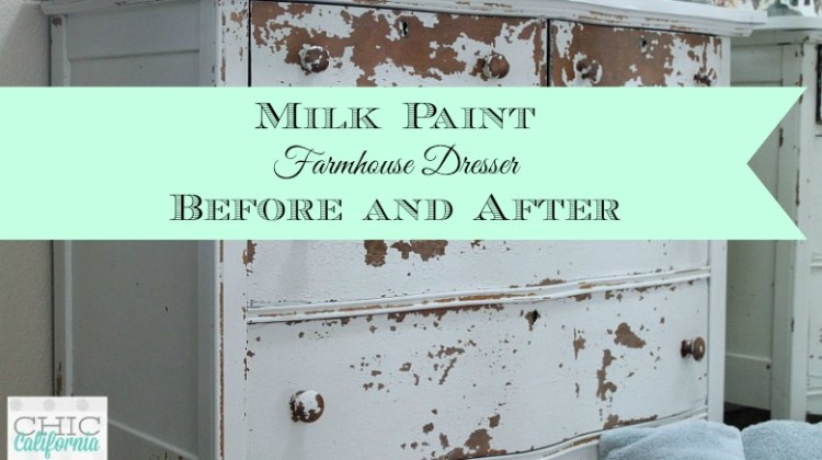 Milk Paint Farmhouse Dresser: Before and After