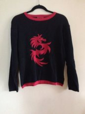 Red Dragon Sweater, EpicWear @ Etsy