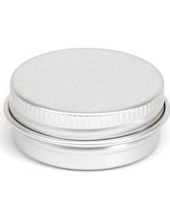 Round silver tin