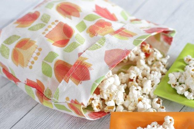 diy reusable microwave popcorn bags