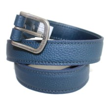Ceinture cuir bleu Jeans