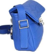 Sac cuir bleu Klein