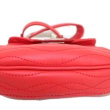 Petit sac cuir Ondulations rouge vermeil