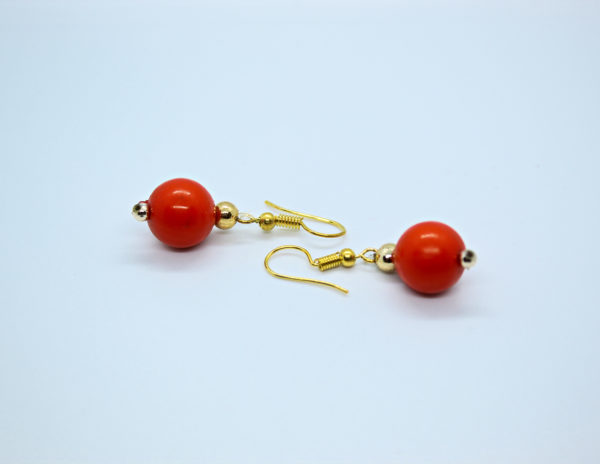 Orange Drop Earring