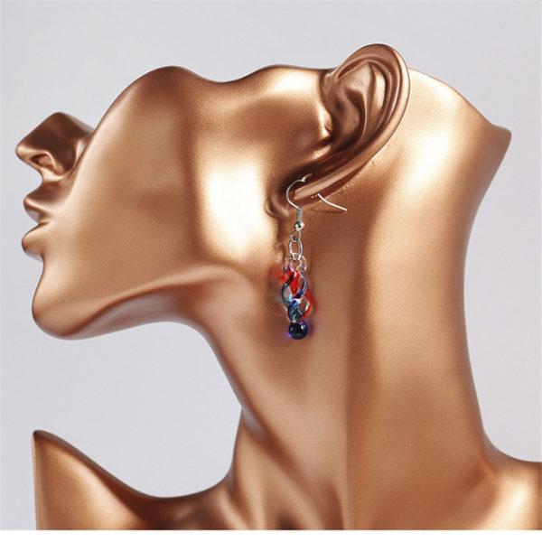 spiral drop earring