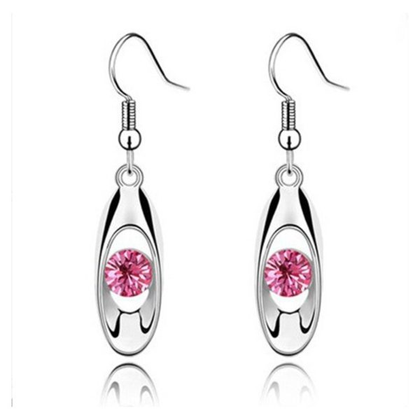 Water Drop Bud Earring Pink