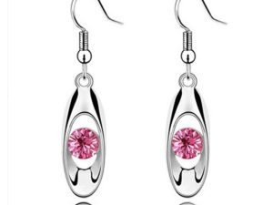 Water Drop Bud Earring Pink