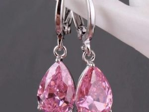 Pink-drop-Earring