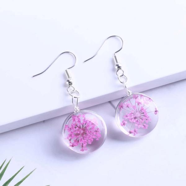 Chic-Drop-Earring-Pink