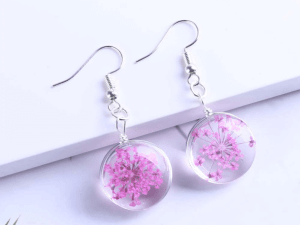 Chic-Drop-Earring-Pink