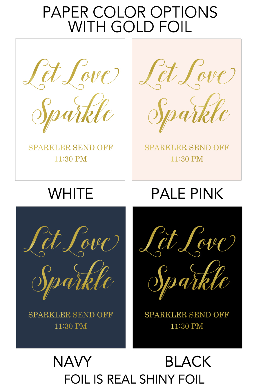 Download Let Love Sparkle Send Off Sign - Chicfetti
