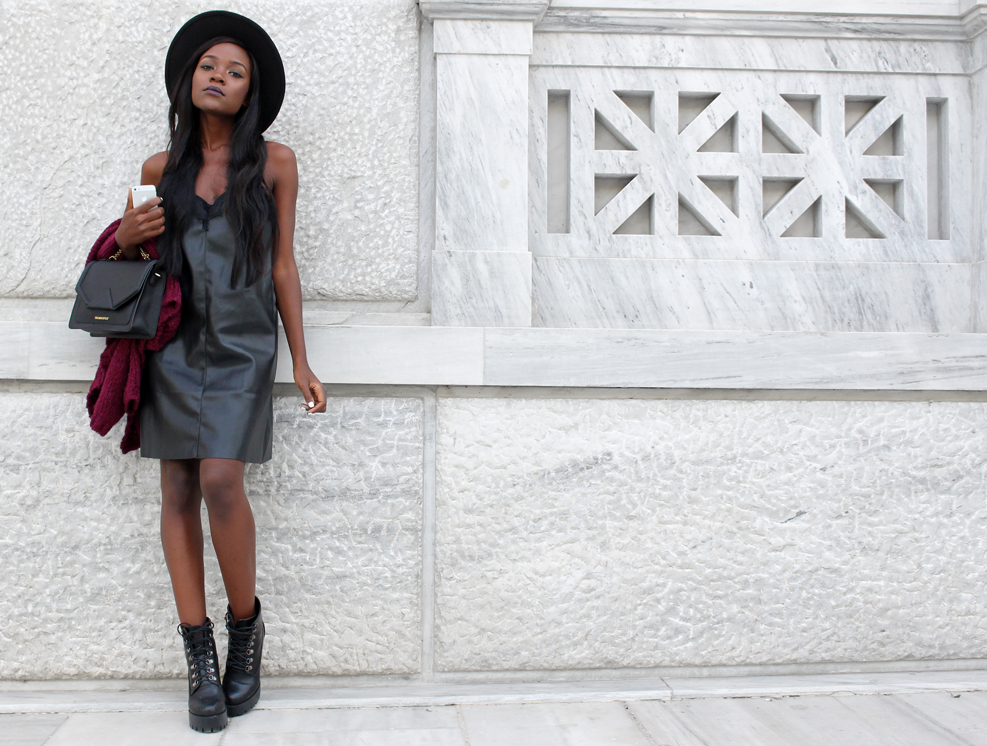 how-to-wear-a-leather-dress