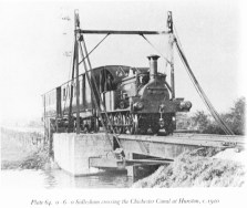 0-6-0 Sidlesham crossing the canal at Hunston