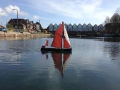 Model sailing barge