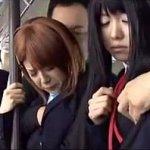 茶髪&金髪&黒髪 美少女トリプル痴漢電車