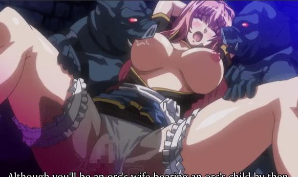 ☆エロアニメ☆豚みたいな化物達に犯されて号泣する美少女騎士