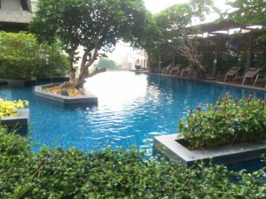 A condo pool in Sukhumvit area