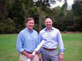 Roger Glover, President Cornerstone Homes, & Richard Kuhn, President Stylecraft Homes
