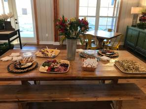 First Homeowner Event Food Spread.