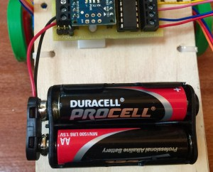 Battery pack on chassis