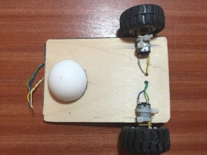 ChickBot wood chassis - faster motors - low cost caster