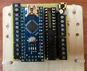 Controller board mounted