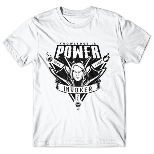 Invoker Knowledge Is Power - Dota 2 tshirt kaos baju distro anime kartun jepang