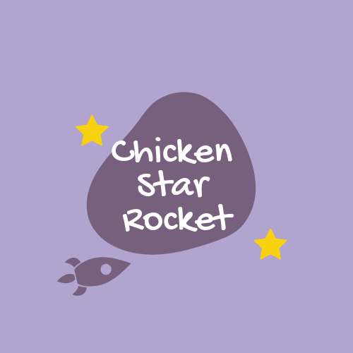 Chicken Star Rocket Logo