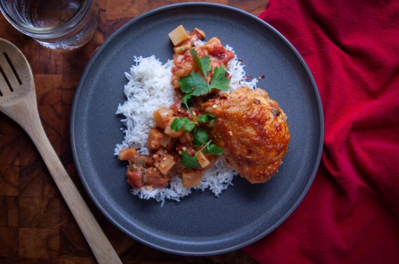 Mafé Style Chicken Thigh Stew