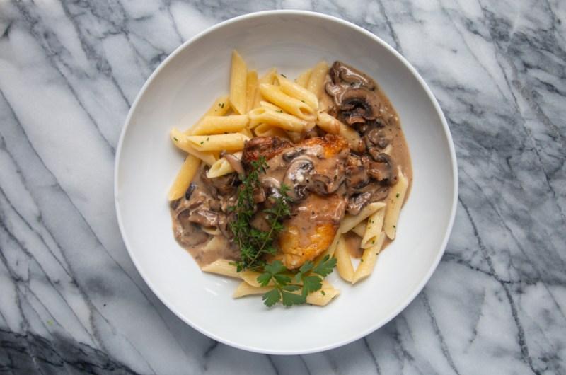 Stroganoff Style Mushroom Chicken