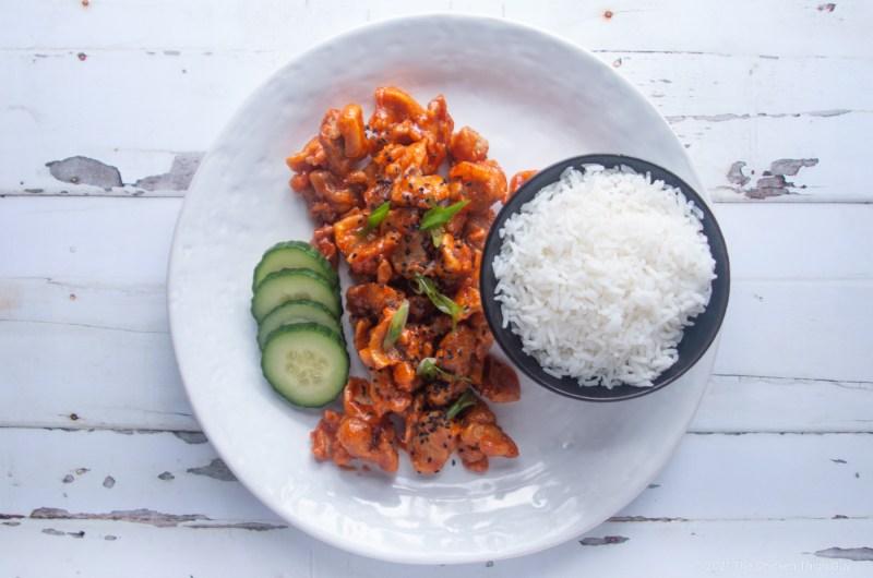 Honey and Sriracha Glazed Chicken