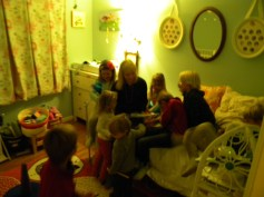 Story time with Edie.