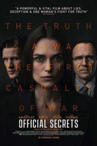 Official Secrets poster 1 201x300 - Review: Official Secrets
