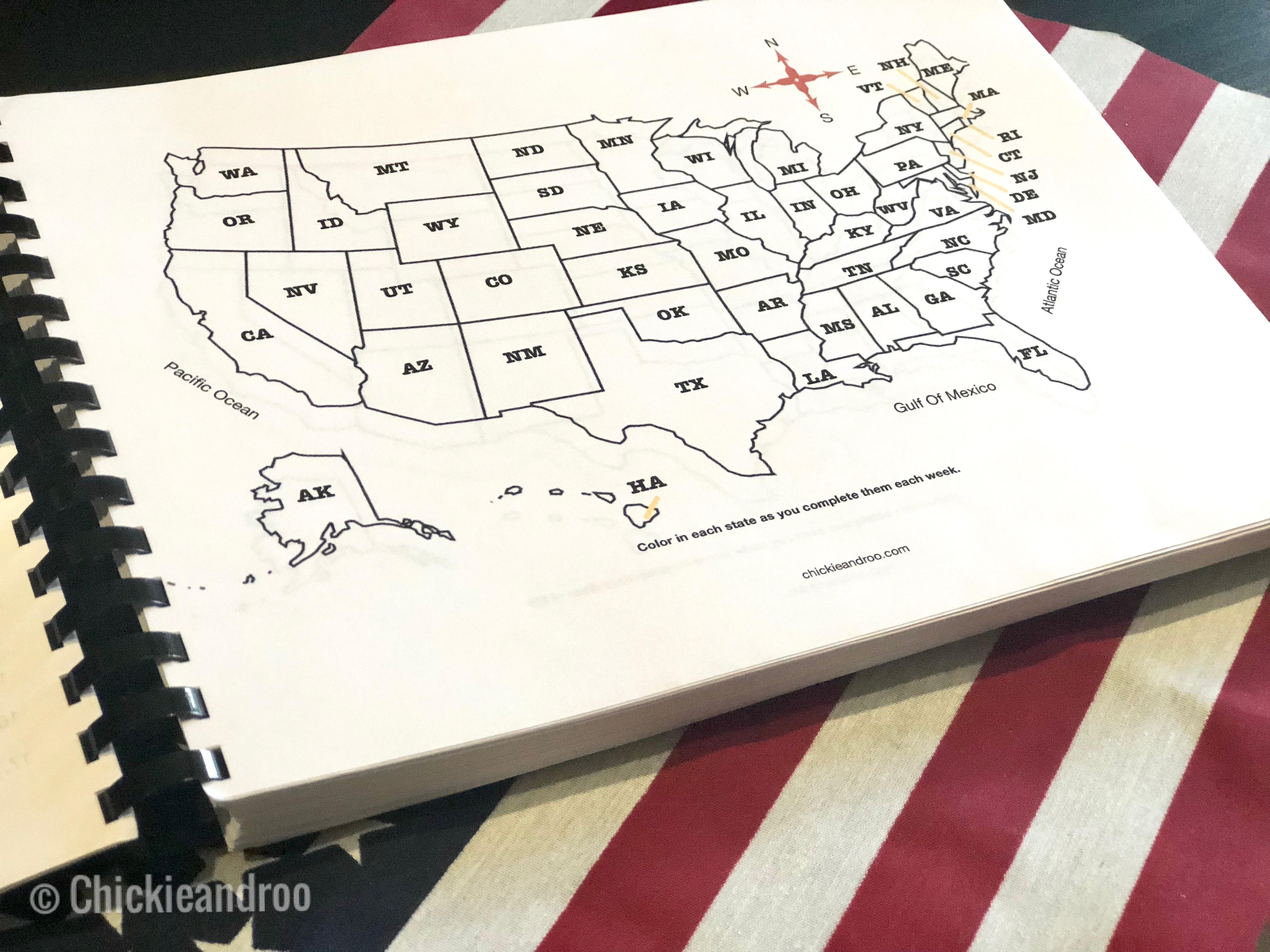 Steam States Curriculum Learn One State Per Week Through
