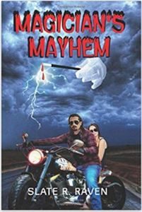 "Alt=""book review for magician's mayhem"""