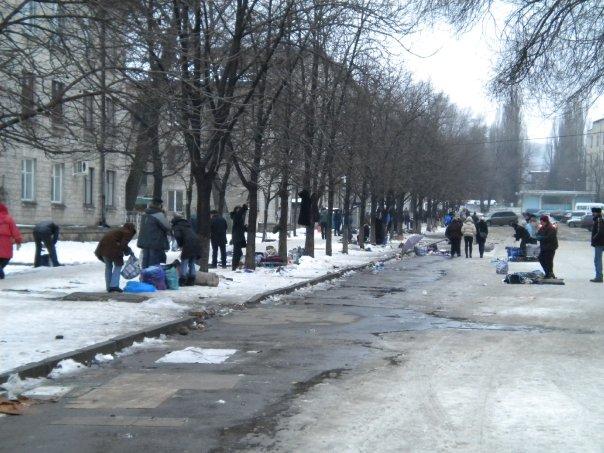 The local market in Chisinau