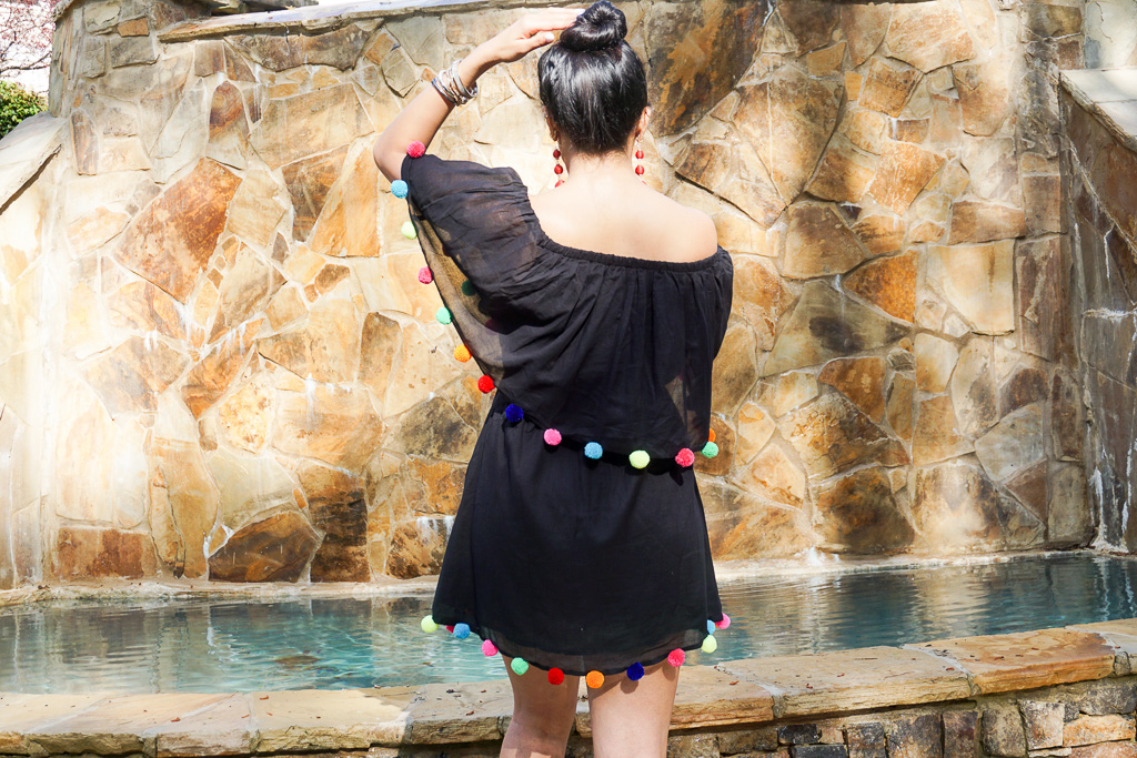 This Pom Pom Dress/Cover Up