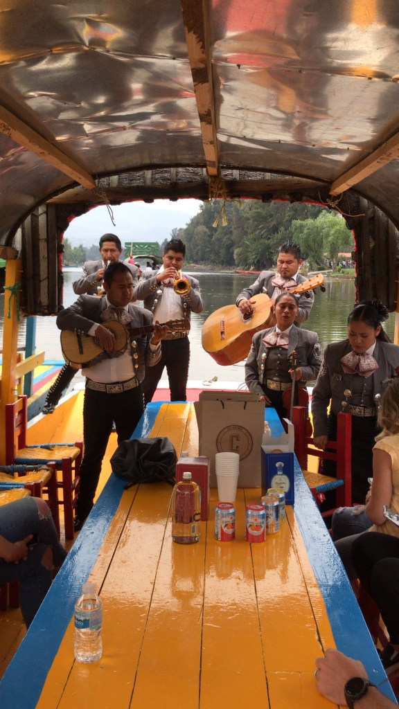 Mariachi on board performing