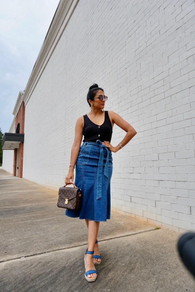 Eva Mendes Denim Skirt