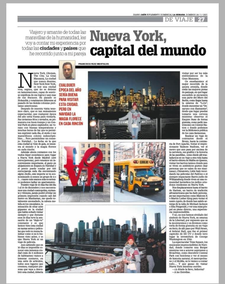 NUEVA YORK, CAPITAL DEL MUNDO (Articulo Diario Jaén)