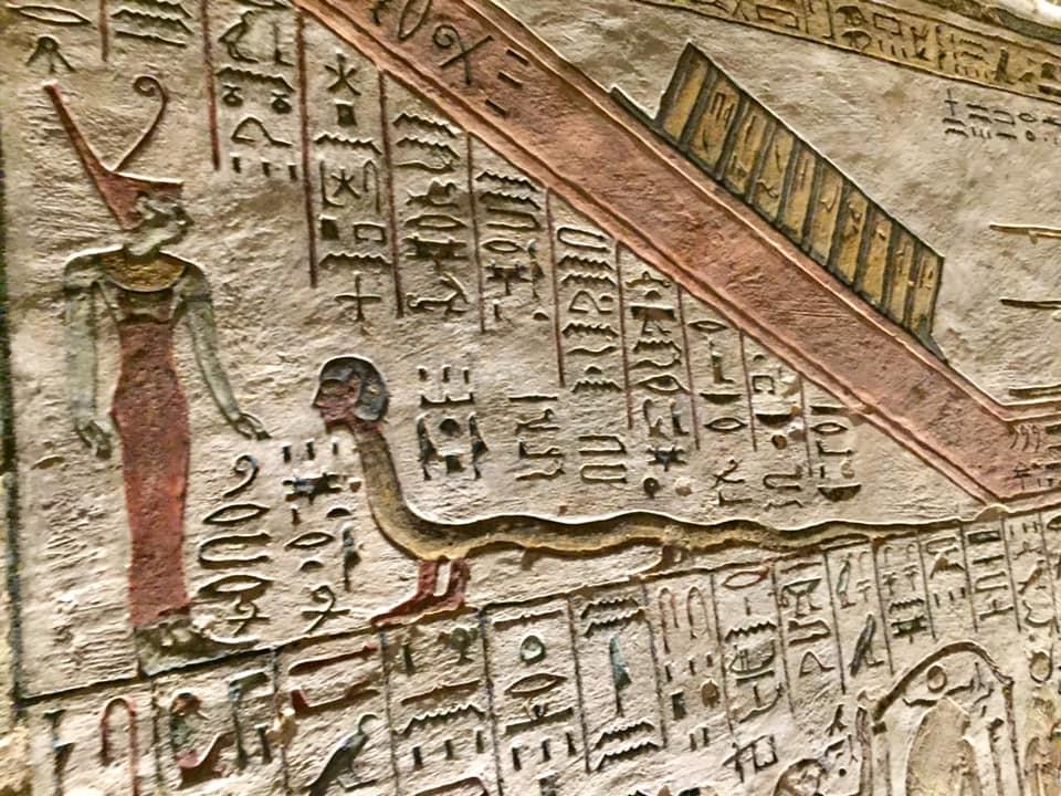 Dibujos en la tumba de Tutmosis III