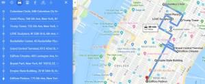 Mapa Guia de Nueva York 5º Av
