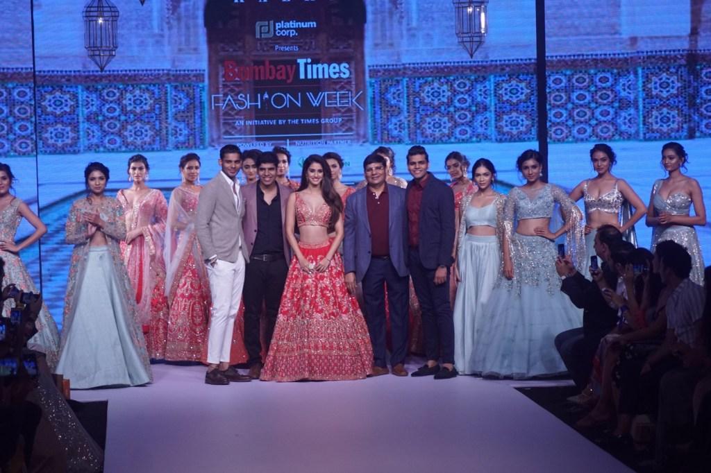 Mumbai: Actress Disha Patani showcase creations of label Kalki fashion on Day 3 of the Bombay Times Fashion Week 2018 in Mumbai on Oct 14, 2018. (Photo: IANS)