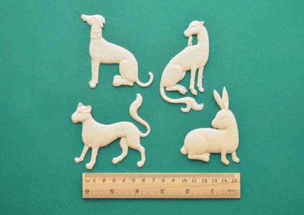Medieval Animals - Set of 4 Resin Moulding
