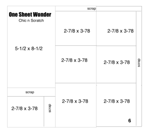 One sheet wonder 6