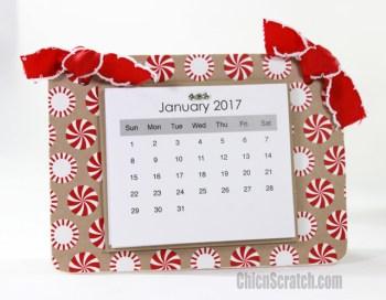 Candy Cane Lane Rectangle Coaster Calendar