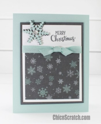Christmas Card Featuring Merry Cafe Stamp Set