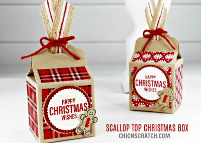 Scallop Top Christmas Box