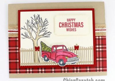 Farmhouse Christmas Stamp Kit Card Four
